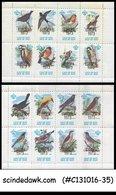 ISLE OF MAN 1973 CALF OF MAN BIRDS/SCOUT SCOUTS EUROPA MNH SET OF 2 MS - Isle Of Man
