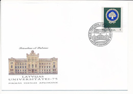 FDC Mi 375 / University Of Latvia 75th Anniversary - 24 September 1994 - Latvia