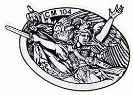 Autocollant  Armée CM104 Colmar - Militaria