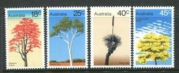 Australia 1978 Trees Set MNH (SG 664-667) - 1966-79 Elizabeth II