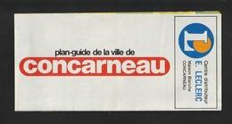 Dépliant De CONCARNEAU .  29 - Années 1980/90 -  Plan Guide De La Ville . Adresses Utiles Et Index Des Rues - 5 Photos - Folletos Turísticos