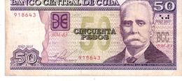 Cuba P.123 50 Peso 2015 Au+ - Cuba