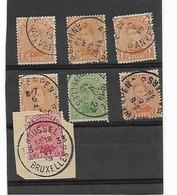 België  Antwerpen  Brussel Met Sterstempels - Postmark Collection