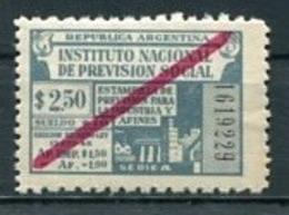 ARGENTINA - INSTITUTO NACIONAL DE PREVISIÓN SOCIAL / PREVOYANCE SOCIALE. FISCAL, TIMBRES FISCAUX, TAX STAMPS. - LILHU - Viñetas De Franqueo (Frama)