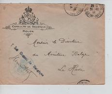 PR6868/ Lettre Du Consulat De Belgique (Rouen) En F.M. C.Ste.Adresse 30/2/18 > Le Havre Directeur Du Moniteur Belge - Autres Zones