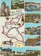 Côte D ' Or :  Carte  Géographique  : Santenay, Chalon, Mercurey, Volnay , Beaune,... - Other Municipalities
