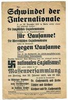 Wien; Flugblatt Der NSDAP - Massenversammlung In Wien 18.; 20. Jänner 1933; R ! - Militaria