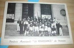 92    -    PUTEAUX FANFARE MUNICIPALE LA RENAISSANCE @ CPA VUE RECTO/VERSO AVEC BORDS - Puteaux