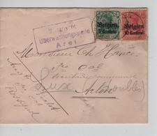 PR6869/ TP Oc 2-3 S/L.format CV écrite De Rossignol C.Marbehan 1916 Censure Arel (Arlon) > Arlon - Esercito Tedesco