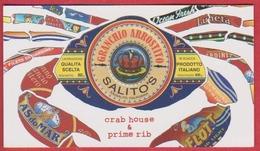 Granchio Arrostito. Crab House And Prime Rib. Restaurant. Sausalito. Californie. Etats Unis. 2019. - Cartes De Visite
