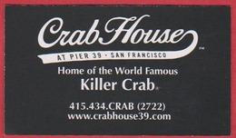 Crab House At Pier 39. Restaurant. San Francisco. Californie. Etats Unis. 2019. - Cartoncini Da Visita