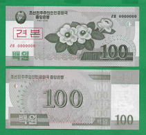 COREA DE NORD - 100 WON - 2008 - SPECIMEN - UNC - Korea, Noord