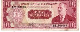 Paraguay P.196b 10 Guarani 1963 Xf - Paraguay
