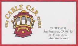 The Cable Car Stor. Pier 39. Magasin De Souvenirs Du Tramway De San Francisco. Californie. Etats Unis. 2019. - Visiting Cards