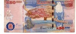 Zambia P.48 50000 Kwacha 2003 Vf - Zambia