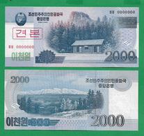 COREA DE NORD - 2000 WON - 2008 - SPECIMEN - UNC - Korea, Noord
