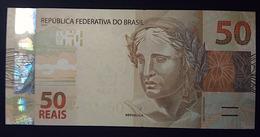 BRAZIL Banknote 2nd Real Family Series Cédula R$ 50 Reais FF 7474 Levy E Tombini UNC Jaguar Lince - Brasilien
