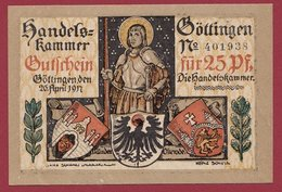 Allemagne 1 Notgeld  25 Pfenning Stadt Göttingen  (RARE) Dans L 'état N °4639 - Verzamelingen
