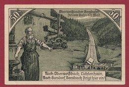 Allemagne 1 Notgeld  50 Pfenning Stadt Oberweissbach (RARE) Dans L 'état N °4643 - Verzamelingen