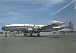 Lufthansa Airlines Lockheed L-1049G Costellation D-ALEN Aviation Airplanev At LMA - 1946-....: Era Moderna