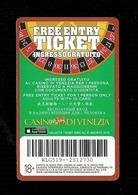Biglietto Di Ingresso - Casinò Di Venezia -  Gratuito - Biglietti D'ingresso