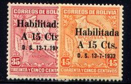 BOLIVIA, NO.'S 209-210, MH - Bolivia