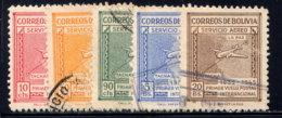 BOLIVIA, SET, NO.'S C100-C104 - Bolivia
