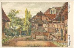 Langenthal - Farbstrasse  (Künstlerkarte)           Ca. 1920 - BE Berne