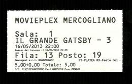 Biglietto Di Ingresso Cinema - Film Il Grande Gatsby  - Movieplex Di Mercogliano - Avellino - Non Classificati