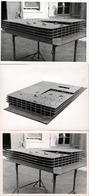 3 Grandes Photos Originales Grands Travaux & Architecture - Maquette D'un Garage Aérien à 5 Niveaux Sur Marseille 1963 - Places