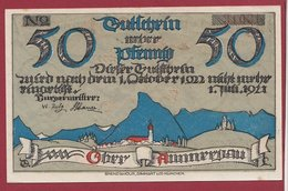 Allemagne 1 Notgeld 50 Pfenning Stadt Oberammergau Dans L 'état N °4651 - Collections