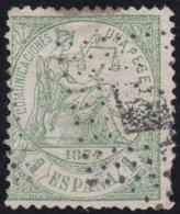ESPANA  .      Yvert   148        .       O       .         Cancelled      .    /   .  Oblitéré - 1873-74 Regencia