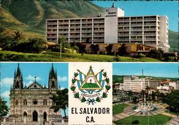 !  1965 Ansichtskarte El Salvador, Hotel, Kirche, Church - Ansichtskarten