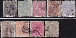 ESPANA  .      Yvert   183/191        .       O       .         Cancelled      .    /   .  Oblitéré - 1875-1882 Königreich: Alphonse XII.