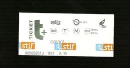 Biglietto Autobus-Metro Francia - Stif Parigi - Autobus