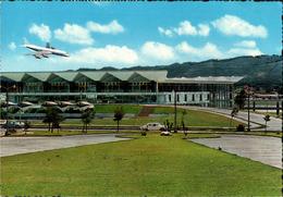 !  1970 Ansichtskarte Guatemala, International Airport, Flughafen, Briefmarke Olympiade 1968 - Aerodrome