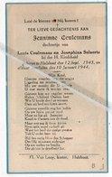 JEANINNE CEULEMANS ° HULSHOUT 1943 + 1944 DOCHTERJE VAN LOUIS EN JOSEPHINA SALAERTS - Imágenes Religiosas
