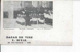 VIRE   Carte Pub ,bazar De Vire 20 Rue Saulnerie L DUVAL - Vire