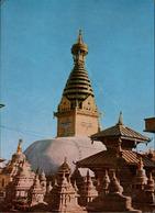!  1974 Ansichtskarte Nepal, Temple - Nepal