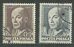 POLAND Oblitéré 636-637 Général SWIERCZEWSKI - 1944-.... République