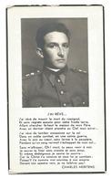 Doodsprentje Adjudant 28e Linieregiment Antwerpen + Kwatrecht 20 Mei 1940 - Santini