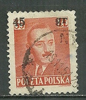 POLAND Oblitéré 620 Président BIERUT Timbre Avec Surcharge - 1944-.... Republik