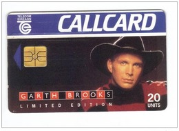 Carta Telefonica Irlanda - Garth Brooks   -  Carte Telefoniche@Scheda@Schede@Phonecards@Telecarte@Telefonkarte - Irlanda