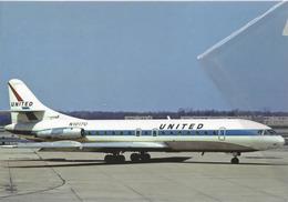 United Air Lines Sud SE-210 Caravelle VI-R Aereo Aviation N1017U Airplane At CLE - 1946-....: Era Moderna