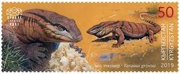 H01 Kyrgyzstan Red List Red Book Rote Liste Reptiles 2019 Mi# 132 Desert Monitor MNH Postfrisch - Kirghizistan