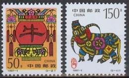 China MiNr. 2784/85 **, Jahr Des Ochsen - 1949 - ... République Populaire
