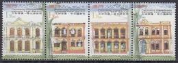 Macau MiNr. 1037/40 ** Registrierte Kulturdenkmäler Im 4er Streifen - 1999-... Sonderverwaltungszone Der China