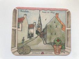 Carton De Bière STELLA ARTOIS 1978  Jaar Van Het DORP Ruiselede Année Du Village - Publicités