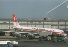 Swissair Douglas DC-8 HB-IDB Avion DC6 Airplane At IDL AEREO - 1946-....: Era Moderna