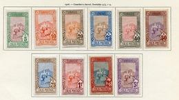 Tunisie - Tunesien - Tunisia Colis Postaux 1906 Y&T N°CP1 à 10 - Michel N°PK1 à 10 * - Courrier Postal - Unused Stamps